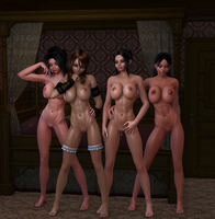 Girl Party 02 by Naduron