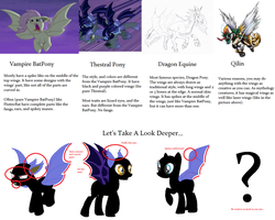 VamBatPony - Thestral - DragonPony - Qilin (Wings) by AzureSpaceHussie