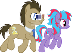 Doctor Whooves and Cotton Cloud by JusticePrevail