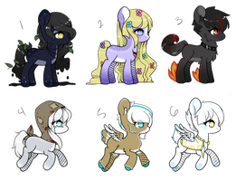 (CLOSED) Auction Adopts: Monster Ponies by NeoAbyss-Adopts