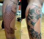 Koi fish tattoo session 1 by flaviudraghis