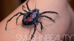 3D Spider Black Widow Face Paint Tutorial by smashinbeauty