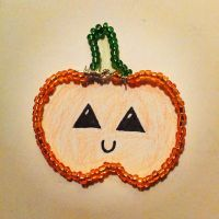 Beaded Wire Pumpkin by amis0129