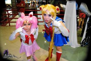 Sailor Moon and Sailor Chibi Moon by Chiibiimoon