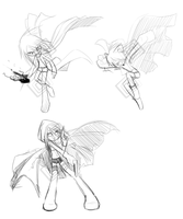 Random Poses and Cloth practice by Saige199