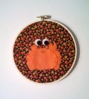 Cuddly Crab Embroidery Hoop by msmegas