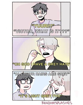 YOI: GREY HAIR by Randomsplashes