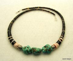 Turquoise, Shell and Sterling by Janski-Designs