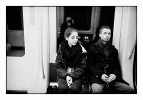 On the metro by thelizardking25