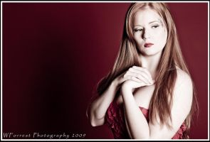 Waiting in Red II by Trihesta