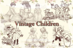 Vintage Children by auRoraBor