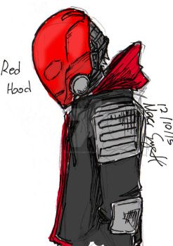 Red Hood Arkham Knight side view by roomforgame