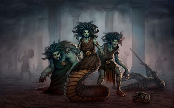 Medusa and Her Sisters by Sam-Peterson