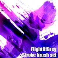 FlightOfGrey Stroke Brush Set by FlightOfGrey