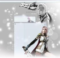 FFXIII Lightning YT Background by FadedBlackangel