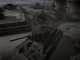 Operation Iskra: T-34 by rainamechan