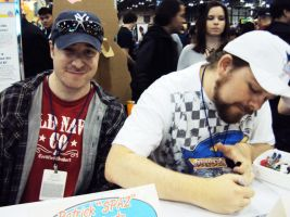 NYCC '10: Spaz and Ian by PanicPagoda