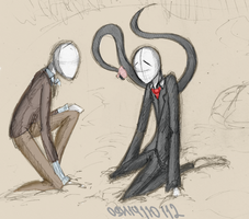 Trenderman and Slenderman [Sketch] by ottostahlherz