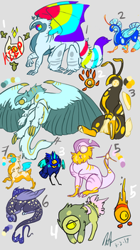 GLASS BULBS AND SQUISH ADOPTS 1 DISCOUNTED! by The-Curious-Wanderer