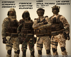 Near future military guys and gals by MarineACU