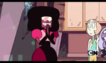 Garnet's reaction to Steven and Connie's fusion by Nepkatluvr