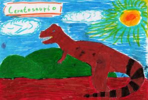 Ceratosaurio by Dino-drawer
