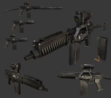 9A-91 assault rifle by Leonid-k