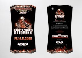 Dj Tomekk Flyer by homeaffairs