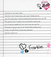 Sweet 1600 Frankie's Note by zombiegator