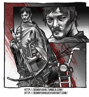 Daryl Dixon (The Walking Dead) w/ Speed Painting! by BonnyJohn
