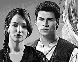 The Hunger Games. Katniss and Gale 2 by StalkerAE