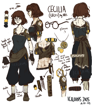 Cecilia Teng Ref Sheet by IceLaws
