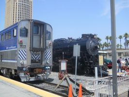 3751 and Surfliner Cab car by JulianKoehler3751