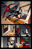 Black Cat Spiderman color test by ivanev