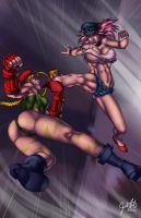 Cammy versus Poison by JosFouts