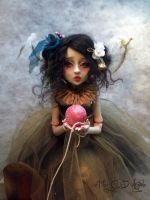Ball jointed doll doves AA by cdlitestudio