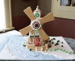 Gingerbread Windmill by HollyHeisey