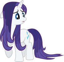 Rarity is sad and wet by TheMajesticPony