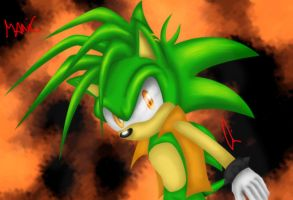 Manic The Hedgehog by Gie