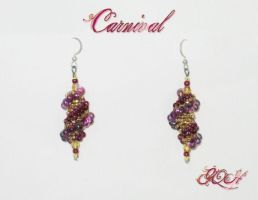 Carnival Cocoon earrings by GoodQuillHunting