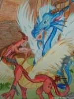 Ice and Fire Dragons by BlackDragon07