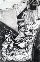 Superman VS. Thor for coloring by jey2dworld
