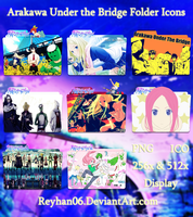 Arakawa Under the Bridge Folder Icons by Reyhan06