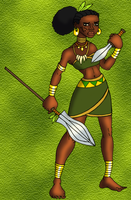 West African Jungle Huntress by BrandonSPilcher