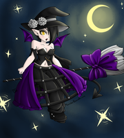 Chibi Witch in the Night by SinisterBunneh