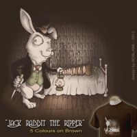 Jack Rabbit the Ripper Shirt Design by faustdavenport
