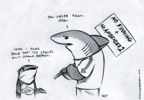 Land Shark Protest by RobtheDoodler