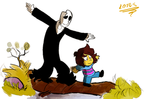 The Great Adventures of Frisk and Gaster by LotusTheKat