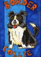 ACEO Dog 9: Border Collie by ronnieraccoon