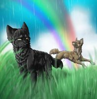 Stand in the rain by neonspider